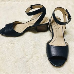 Life Stride Navy Blue Heeled Sandal